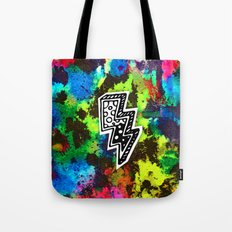 Neon Lightning Tote Bag
