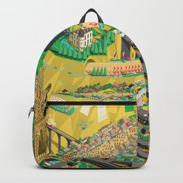 Tour De France Eiffel Tower Backpack