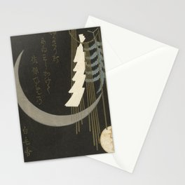 Vintage New Years Japanese Art Stationery Cards