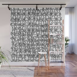Doodle inspired to Keith Haring Wall Mural