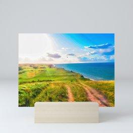 Sheringham Coastline, Norfolk, U.K Mini Art Print