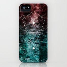 Rhombus Moon Texture Geometry iPhone Case