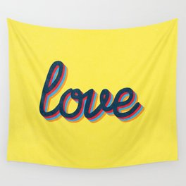 Love - yellow version Wall Tapestry