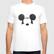 Mickey Hatching Mens Fitted Tee LARGE White