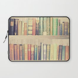 Dream with Books - Love of Reading Bookshelf Collage Laptop Sleeve