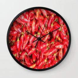 UN ROJO AJÍ EN PALOQUEMAO - RED HAXÍ IN PALOQUEMAO Wall Clock