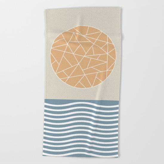 MAYBE THE SEA (abstract geometric) Beach Towel