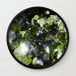 Dazzling Days of Green Ivy Wall Clock