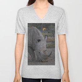 White Rhino Unisex V-Neck