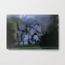 Darkness Halloween Castle Metal Print