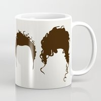 seinfeld Mugs featuring Seinfeld Hair by Bill Pyle