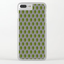 Hops Gray Pattern Clear iPhone Case