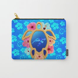 Hawaiian Swimming Turtle Carry-All Pouch