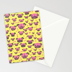 Pug Life  - Yellow and pink Stationery Cards