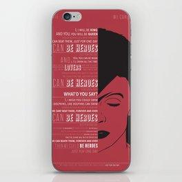 Heroes - Bowie iPhone Skin
