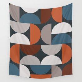 Mid Century Modern Geometric 24 Wall Tapestry