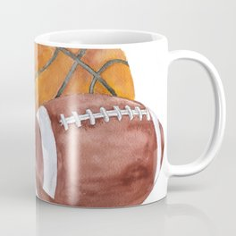 Sports Balls Watercolor Painting Coffee Mug