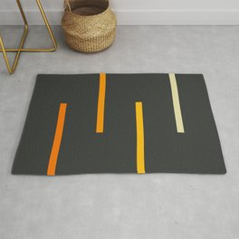 Abstract Minimal Retro Stripes Ashtanga Rug