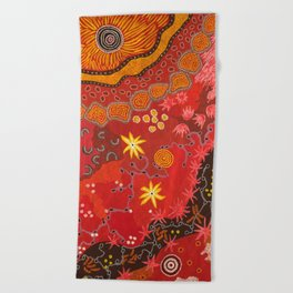 Aboriginal summer Beach Towel