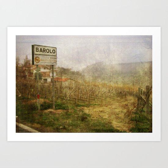 Barolo vineyards, Piedmont, Italy Art Print