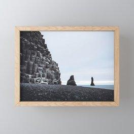 Reynisfjara, Iceland Framed Mini Art Print