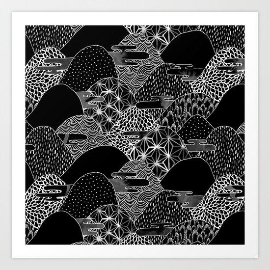 Cosmic Mountains II Art Print