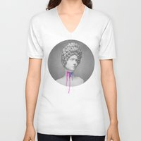 roman V-neck T-shirts featuring Post-Roman by Christopher Berry