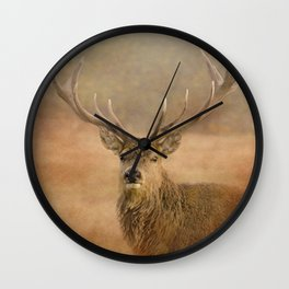 Autumn Stag Wall Clock