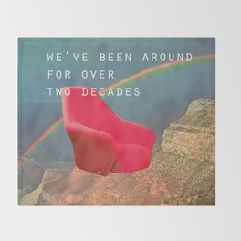 We've been around for over two decades (Red chair and the Grand Canyon) Throw Blanket