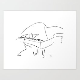 Keith Jarrett – Improvisations in Jazz Art Print