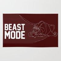 depeche mode Area & Throw Rugs featuring Beast Mode by Elizabeth Kidder