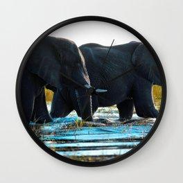 Elephants (Color) Wall Clock
