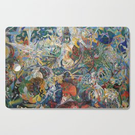 Battle of Lights, Coney Island, Mardi Gras by Joseph Stella Cutting Board