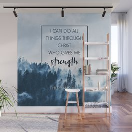 Forest Philippians 4:13 Wall Mural