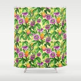 Passiflora vines Shower Curtain