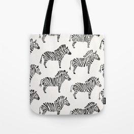 Zebras – Black & White Palette Tote Bag