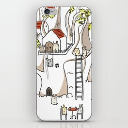 Forest animals waiting for the holidays iPhone Skin