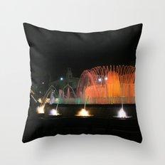 Barcelona Fountain Throw Pillow