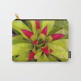 Vibrant Red Bromeliad Carry-All Pouch