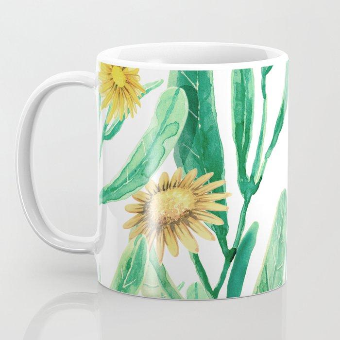 yellow flowers on sunny day Coffee Mug
