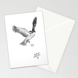 Owls are pretty much ninjas. Stationery Cards