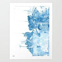 spires Art Prints featuring Dreaming Spires by Karl Segnoe