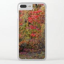 Evocative Autumn Clear iPhone Case
