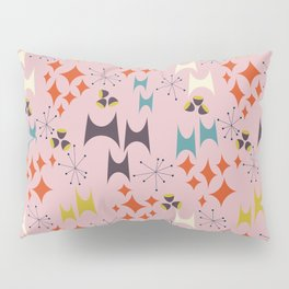 Deviled Starbursts Pink Pillow Sham