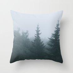 Evergreen Fog Throw Pillow