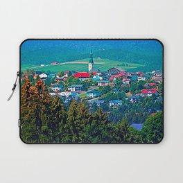 Village below the mountains Laptop Sleeve