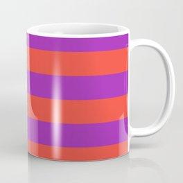 Even Horizontal Stripes, Red and Purple, L Coffee Mug