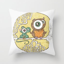 Why Can't We Be Friends?   Throw Pillow