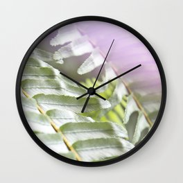 Fern + Photons Wall Clock