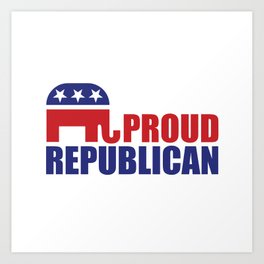 Proud Republican Elephant Design Art Print